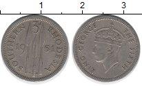Изображение Монеты Родезия 3 пенса 1951 Медно-никель XF
