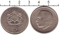 Изображение Монеты Тунис 5 динар 1980 Медно-никель VF