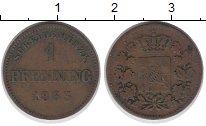 Изображение Монеты Бавария 1 пфенниг 1863 Медь VF