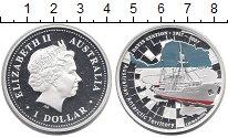 Изображение Монеты Австралия 1 доллар 2007 Серебро Proof- Антарктические терри