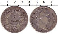 Изображение Монеты Франция 5 франков 1811 Серебро VF