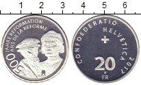 Изображение Монеты Швейцария 20 франков 2017 Серебро Proof 500 лет реформации