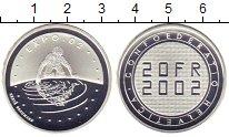 Изображение Монеты Швейцария 20 франков 2002 Серебро Proof