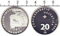 Изображение Монеты Швейцария 20 франков 2005 Серебро Proof Женевский автосалон