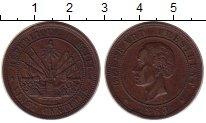 Изображение Монеты Гаити 2 цента 1863 Медь XF