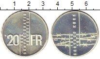 Изображение Монеты Швейцария 20 франков 1992 Серебро Proof- Гертруд  Курц.