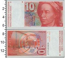Изображение Банкноты Швейцария 10 франков 1980  UNC Леонард  Эйлер.