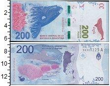 Изображение Боны Аргентина 200 песо 2016  UNC Кит. Полярная природ