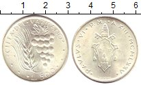 Изображение Монеты Ватикан 500 лир 1975 Серебро UNC