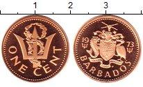 Изображение Монеты Барбадос 1 цент 1973 Бронза Proof-