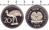Изображение Монеты Папуа-Новая Гвинея 20 тоа 1975 Медно-никель Proof-