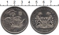 Изображение Монеты Сьерра-Леоне 1 доллар 2006 Медно-никель UNC- Христофор  Колумб.