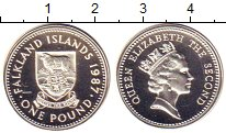 Изображение Монеты Великобритания Фолклендские острова 1 фунт 1987 Серебро Proof