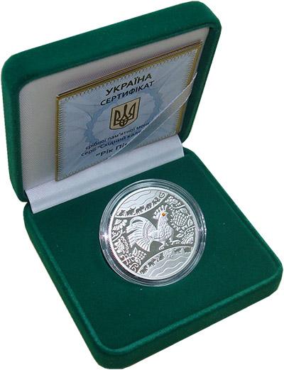 Изображение Подарочные монеты Украина Год петуха 2017 Серебро Proof Монета номиналом 5 г