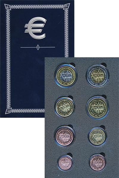 Изображение Подарочные монеты Ватикан Евро проба 2013 2013  UNC Набор фантазийных ев