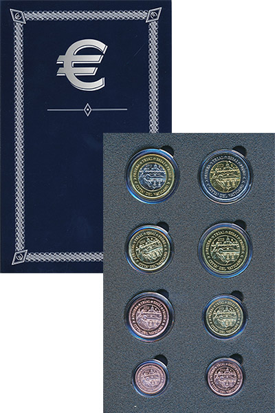 Набор монет Ватикан Евро проба 2013 2013 UNC