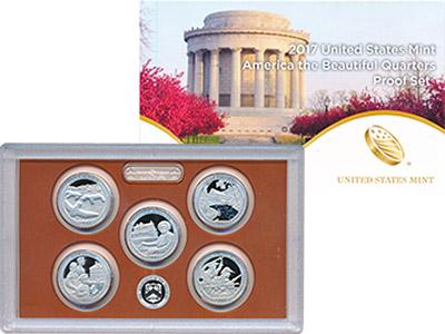 Изображение Подарочные монеты США Национальные парки 2017 2017 Медно-никель Proof Подарочный набор сос