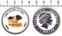 Изображение Монеты Австралия 1 доллар 2007 Серебро Proof