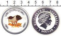 Изображение Монеты Австралия 1 доллар 2007 Серебро Proof Елизавета II. Цифров
