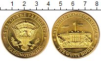 Изображение Монеты США жетон 0 Латунь UNC- Вашингтон.Белый Дом