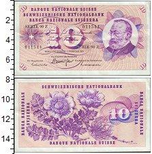 Изображение Банкноты Швейцария 10 франков 1974  XF+ Цветы