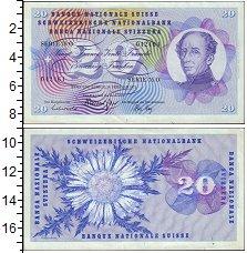 Изображение Банкноты Швейцария 20 франков 1971  XF+ Цветок