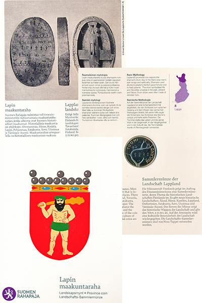 Изображение Подарочные монеты Финляндия 5 евро 2011 Биметалл Proof Область Лаппи