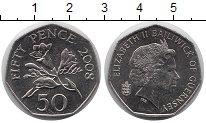 Изображение Монеты Гернси 50 пенсов 2008 Медно-никель UNC-