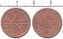 Изображение Монеты Польша 2 гроша 1937 Медь XF