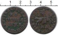 Изображение Монеты 1689 – 1725 Петр I 1 копейка 1710 Медь