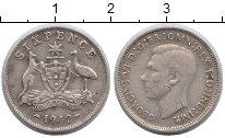 Изображение Монеты Австралия 6 пенсов 1942 Серебро XF