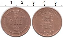 Изображение Монеты Швеция 5 эре 1906 Медь VF