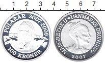 Изображение Монеты Дания 100 крон 2007 Серебро Proof-