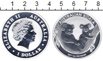 Изображение Монеты Австралия 1 доллар 2011 Серебро Proof- Коала