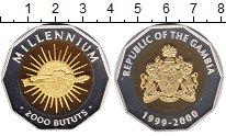 Изображение Монеты Гамбия 2000 бутут 1999 Серебро Proof-