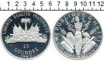 Изображение Монеты Гаити 25 гурдес 1967 Серебро Proof-