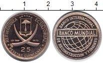 Изображение Монеты Экваториальная Гвинея 25 песет 1970 Серебро Proof-