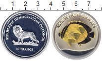 Изображение Монеты Конго 10 франков 2005 Серебро UNC