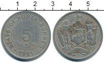 Изображение Монеты Борнео 5 центов 1921 Медно-никель VF
