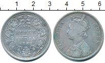 Изображение Монеты Британская Индия 1 рупия 1862 Серебро VF Виктория