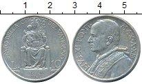 Изображение Монеты Ватикан 10 лир 1934 Серебро VF