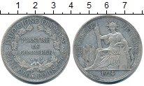 Изображение Монеты Индокитай 1 пиастр 1924 Серебро XF-