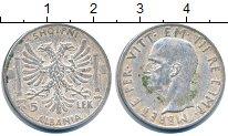 Изображение Монеты Албания 5 лек 1939 Серебро XF- Итальянская оккупаци