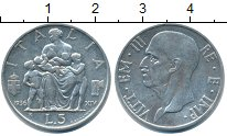 Изображение Монеты Италия 5 лир 1936 Серебро XF Витторио Эмануил III