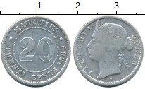 Изображение Монеты Маврикий 20 центов 1889 Серебро VF Виктория