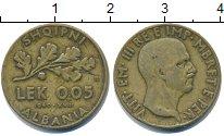 Изображение Монеты Албания 0,05 лек 1940 Латунь VF