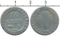 Изображение Монеты Вестфалия 10 сантимов 1808 Медно-никель VF