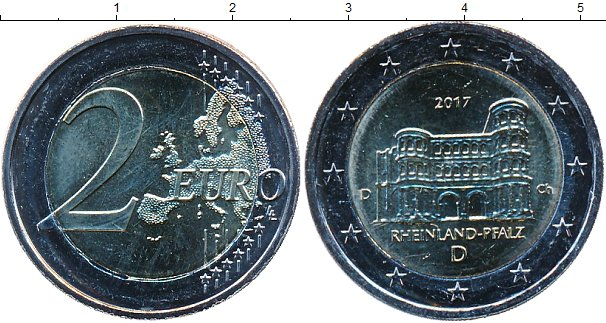 Картинка Мелочь Германия 2 евро Биметалл 2017