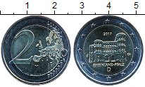 Изображение Мелочь Германия 2 евро 2017 Биметалл UNC-