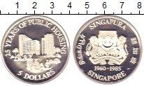 Изображение Монеты Сингапур 5 долларов 1985 Серебро Proof